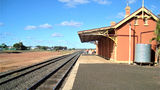 Picture relating to Cobar - titled 'Railway Station Cobar'