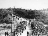 Picture relating to Redcliffe - titled 'Governor of Queensland, Sir Leslie Orme Wilson, arrives at the official opening of the Hornibrook Highway, Redcliffe, 1935'