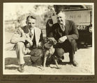 Picture relating to Mount Isa - titled 'Two men and a dog at Mt. Isa, 1932'