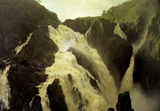 Picture relating to Barron River - titled 'The Barron Falls during a flood'
