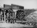Picture relating to Warwick - titled 'Condamine River Railway Bridge, Warwick district, 1882'