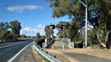 Picture relating to Wilcannia - titled 'Wilcannia - Old and Newer bridges'