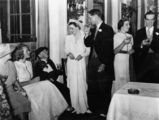 Picture relating to Queensland - titled 'Wedding reception for Mr and Mrs T. T. N. Bell, ca. 1937'
