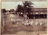 Picture relating to Thursday Island - titled 'Thursday Island - church parade, past the Imperial Hotel '
