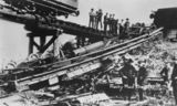 Picture relating to Traveston - titled 'Rocky Mail rail disaster at Traveston, 1925'