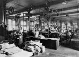 Picture relating to Brisbane - titled 'Inside the Government Printing Office, Brisbane, ca. 1912'