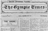 Picture relating to Gympie - titled 'Front page of the Gympie times and Mary River mining gazette newspaper, 1911'
