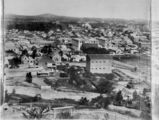 Picture relating to Brisbane - titled 'View of Brisbane city's central business district, ca.1883'