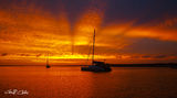 Picture relating to Gosford - titled 'Rays at Dusk - Sunset. Lake Macquarie'