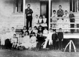 Picture relating to Boulia - titled 'Teacher and students at Boulia State School, ca. 1891'