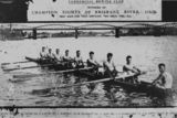 Picture relating to Brisbane River - titled 'Champion rowers on the Brisbane River, Queensland, 1926'