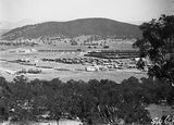 Picture relating to Braddon - titled 'Braddon and Civic Centre from Mt Ainslie. Ainslie Hotel in centre.'