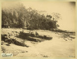Picture relating to Noosa Heads - titled 'Lazing amongst the rocks at Noosa Heads, 1889'