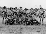 Picture relating to Enoggera - titled 'Soldiers at the Enoggera Army Camp, Brisbane, 1940'