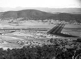 Picture relating to Braddon - titled 'North end of Braddon and Haig Park from Mt Ainslie'