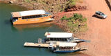 Picture relating to Lake Argyle - titled 'Tour boat access point Lake Argyle'