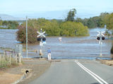 Picture relating to Evandale - titled 'South Esk River in flood Evandale'