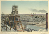 Picture relating to Charters Towers - titled 'Hand coloured photograph of the Queen Cross Reef gold mine, Charters Towers, 1904'