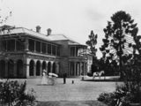 Picture relating to Brisbane - titled 'View of Government House in George Street, Brisbane, ca. 1895'