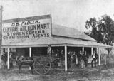 Picture relating to Charleville - titled 'Fidler's Auction Mart, Charleville, 1898'