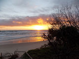 Picture relating to Burleigh Heads - titled 'Burleigh Heads Sunrise after the February rains'
