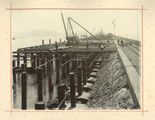 Picture relating to Townsville - titled 'Construction of the wharf on the eastern breakwater at Townsville'
