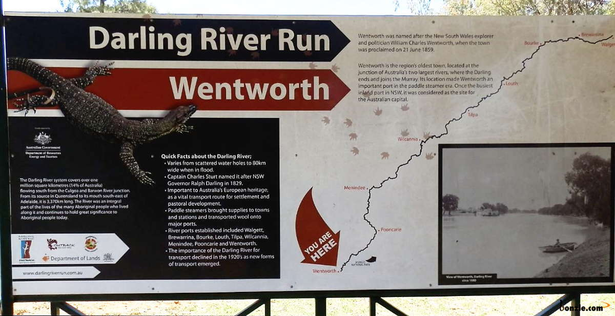 Picture of / about 'Wentworth' New South Wales - Darling River Information Wentworth