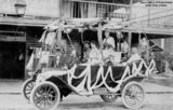 Picture relating to Mossman - titled 'First car in Mossman, Queensland, decorated for the 1919 Victory Parade'