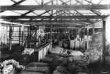 Picture relating to Blackall - titled 'Inside the Blackall woolscours, Queensland, 1908'