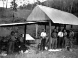 Picture relating to Kilcoy - titled 'Miners at the Kilcoy Creek Goldfields, 1933'