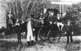 Picture relating to Warwick - titled 'Group of gentlemen gathered around a horse and buggy, Warwick, ca. 1910'