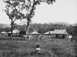 Picture relating to Queensland - titled 'View of farm buildings at unidentified location, 1864-1869'