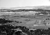 Picture relating to Ainslie - titled 'View from Mt Ainslie down Anzac Parade'
