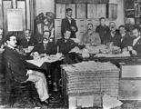 Picture relating to Brisbane - titled 'Election staff at the Referendum, Brisbane, 1899'