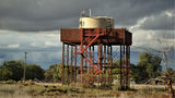 Picture relating to Byrock - titled 'Former Railway station and water tank Byrock NSW'