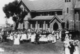 Picture relating to Pittsworth - titled 'New St. Andrew's Curch of England building, 1913'