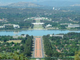 Picture relating to Parliament House - titled 'Parliament House and Anzac Parade viewed from Mount Ainslie lookout'