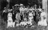 Picture relating to Gympie - titled 'Portrait of group of picnickers at Gympie, 1899'