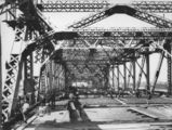 Picture relating to Brisbane - titled 'Construction of roadway slab on the Story Bridge, Brisbane, 1940'