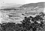 Picture relating to Ainslie - titled 'View from Mt Ainslie towards Civic - Ainslie Hotel on left'