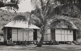 Picture relating to Lindeman Island - titled 'Bungalows at the Lindeman Island resort, Queensland, 1947'