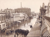 Picture relating to Brisbane - titled 'Brisbane, another view of Queen Street 1893 floods'