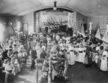 Picture relating to Pittsworth - titled 'Flower show in the Assembly Hall, Pittsworth, ca. 1915'