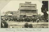 Picture relating to Townsville - titled 'Railway strike at the Waterside Workers Union headquarters, Townsville, 1925'