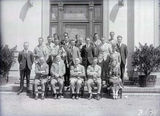 Picture relating to Banks - titled 'Australian Forestry School staff and students, Banks St. Yarralumla.'
