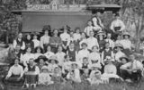 Picture relating to Pittsworth - titled 'Members of the Methodist Church enjoying a day out together, Pittsworth, ca. 1914'