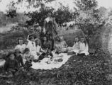Picture relating to Queensland - titled 'Group picnic in the Queensland bush, ca. 1908'