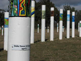 Picture of / about 'Lake Burley Griffin' the Australian Capital Territory - The SIEV X Memorial Close-up of a Pole