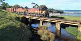 Picture relating to Penguin - titled 'Penguin Creek and Rail Bridge'