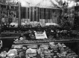 Picture relating to Brisbane - titled 'First prize fruit and vegetable exhibit at the Royal National Association Show,Brisbane, Queensland, 1934'